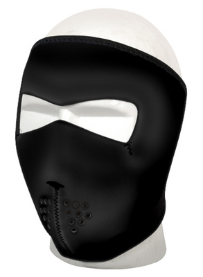 SKULL FACE MASK BLK